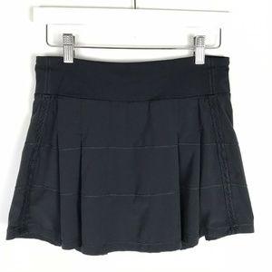 Lululemon Pace Rival Skirt Black Pleated Tennis